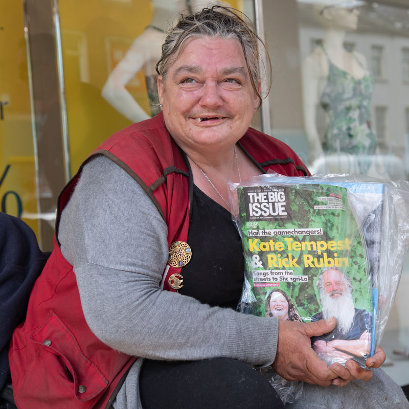 Big Issue Seller - Michelle