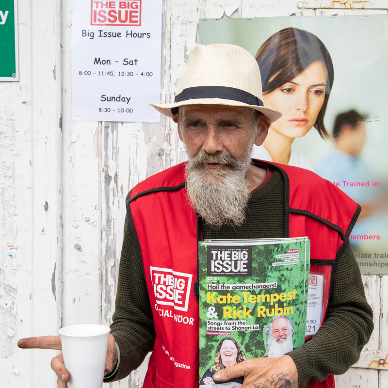 Big Issue Seller - Ken
