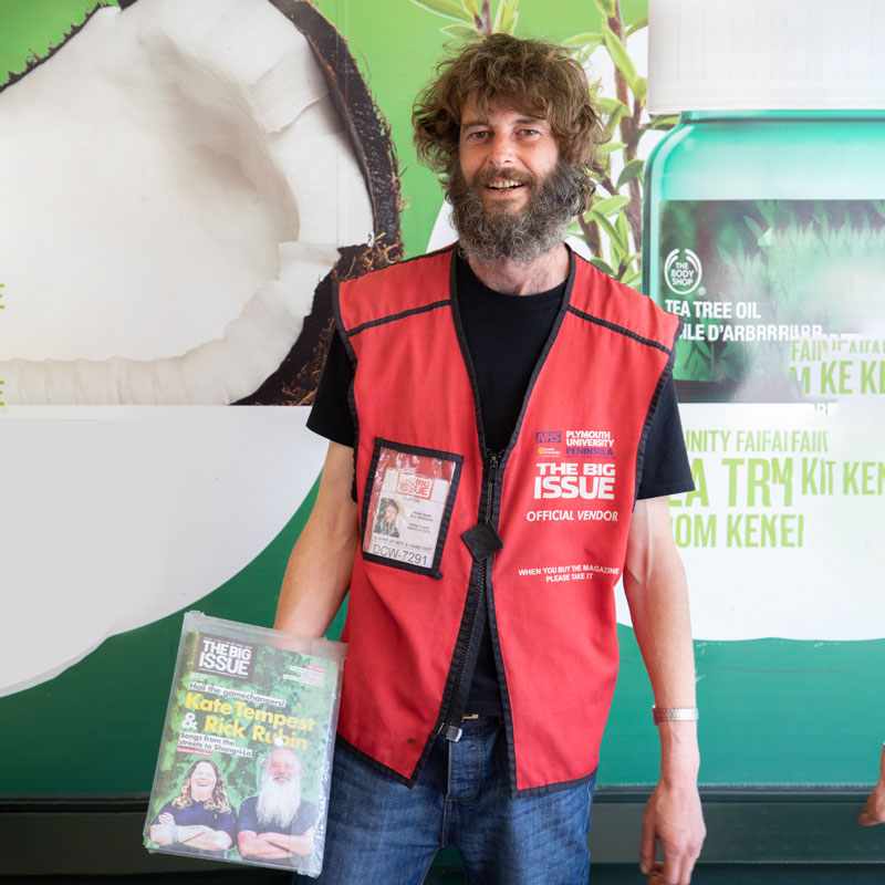 Big Issue Seller - Simon